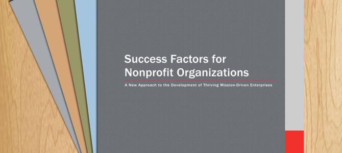 New Resources on Nonprofit Success Factors